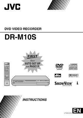 JVC DR-M10S DVD Recorder Owners Instruction Manual Reprint