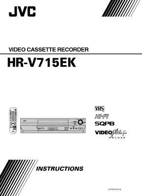 JVC HR-V715EK VCR Owners Instruction Manual Reprint