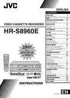 JVC HR-S8960EX VCR Owners Instruction Manual Reprint