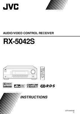 JVC RX-5042SB Receiver Owners Instruction Manual Reprint
