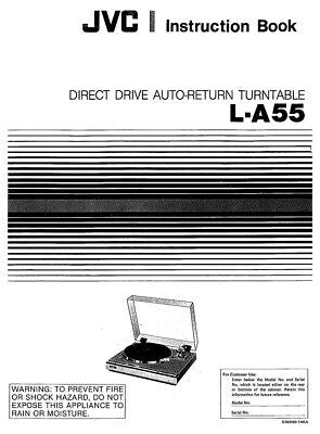 JVC L-A55 Turntable Owners Instruction Manual Reprint