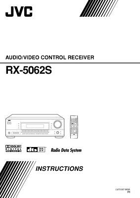 JVC RX-5062S Receiver Owners Instruction Manual Reprint