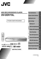 JVC XV-DDV1SL DVD Player Owners Instruction Manual Reprint