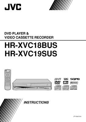 JVC HR-XVC18BUS HR-XVC19SUS VCR Owners Instruction Manual Reprint