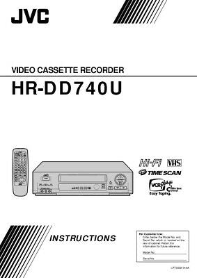 JVC HR-DD740U VCR Owners Instruction Manual Reprint