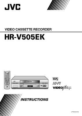 JVC HR-V505EK VCR Owners Instruction Manual Reprint