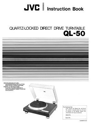 JVC QL-50 Turntable Owners Instruction Manual Reprint