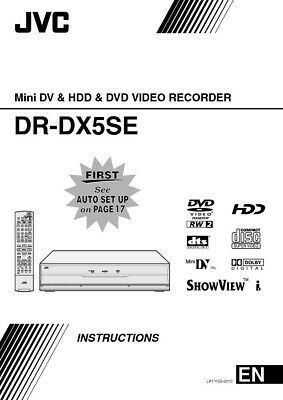 JVC DR-DX5SE Mini DV & DVD Player Owners Instruction Manual Reprint
