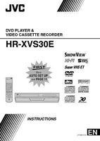 JVC HR-XVS30E VCR Owners Instruction Manual Reprint