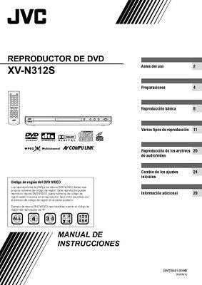 JVC XV-N312S DVD Player Owners Instruction Manual Reprint