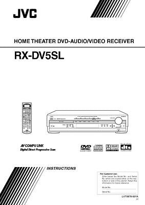 JVC RX-DV5SL Receiver Owners Instruction Manual Reprint