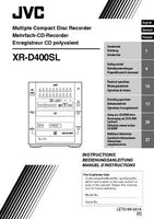 JVC XR-D400SL CD Recorder Owners Instruction Manual Reprint