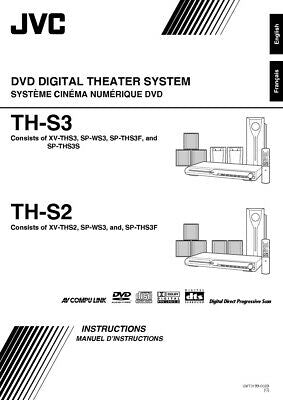 JVC TH-S2 TH-S3 XV-THS2 XV-THS3 System Owners Manual