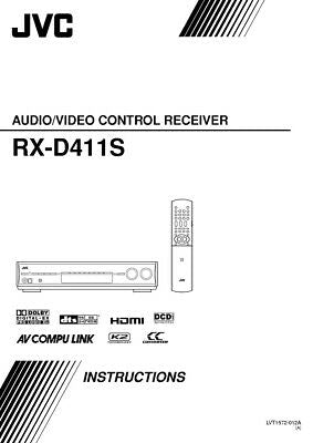 JVC RX-D411SA Receiver Owners Instruction Manual Reprint