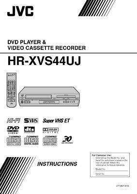 JVC HR-XVS44UJ VCR Owners Instruction Manual Reprint