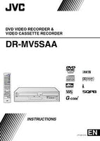 JVC DR-MV5SAA DVD Recorder Owners Instruction Manual Reprint