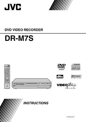 JVC DR-M7S DVD Recorder Owners Instruction Manual Reprint