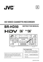 JVC BR-HD50 VCR Owners Instruction Manual Reprint
