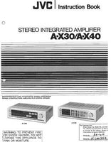 JVC A-X30 A-X40 Amplifier Owners Instruction Manual Reprint