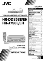 JVC HR-DD858E HR-DD858EH HR-J758E HR-J758EH VCR Owners Manual