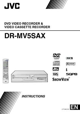 JVC DR-MV5SAX DVD Recorder Owners Instruction Manual Reprint