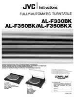 JVC AL-F330BK AL-F350BK AL-F350BKX Turntable Owners Instruction Manual Reprint
