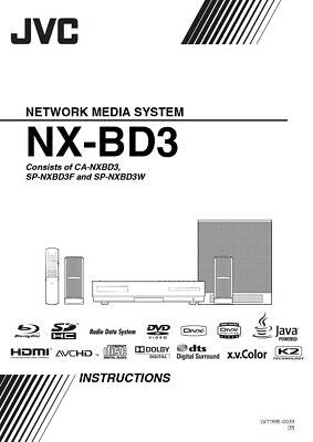 JVC NX-BD3B Network Media System Owners Instruction Manual Reprint