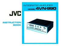 JVC 4VN-990 Amplifier Owners Instruction Manual Reprint