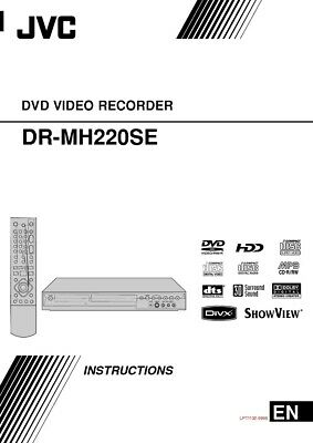 JVC DR-MH220SE DVD Recorder Owners Instruction Manual Reprint