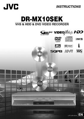 JVC DR-MX10SEK DVD Recorder Owners Instruction Manual Reprint