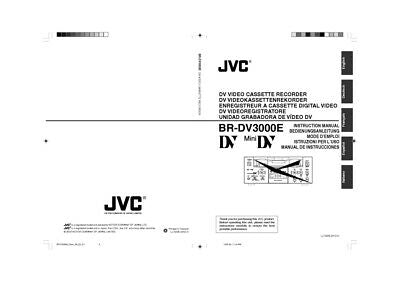 JVC BR-DV3000E VCR Owners Instruction Manual Reprint