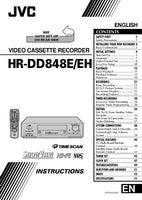 JVC HR-DD848E HR-DD848EH VCR Owners Instruction Manual Reprint