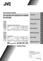 JVC XV-421BK XV-521BK XV-523GD XV-525BK DVD Player Owners Manual