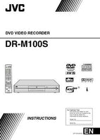 JVC DR-M100S DVD Recorder Owners Instruction Manual Reprint