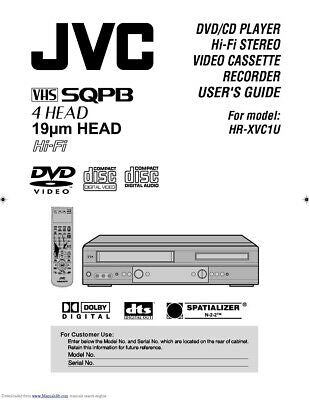 JVC HR-XVC1U VCR Owners Instruction Manual Reprint