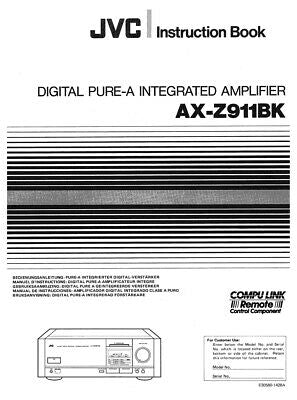 JVC AX-Z911BK Amplifier Owners Instruction Manual Reprint