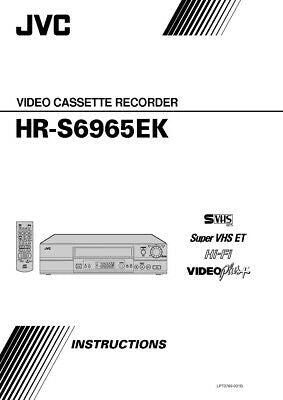 JVC HR-S6965EK VCR Owners Instruction Manual Reprint