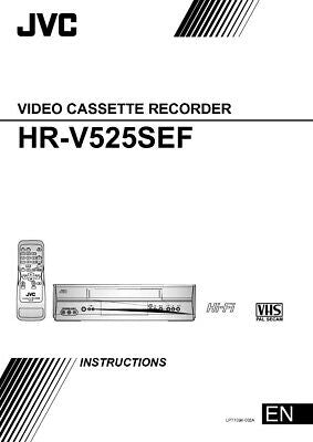 JVC HR-V525SEF VCR Owners Instruction Manual Reprint