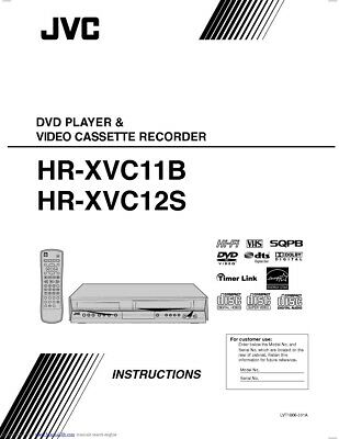 JVC HR-XVC11B HR-XVC12S VCR Owners Instruction Manual Reprint