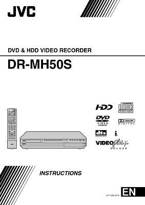 JVC DR-MH50S DVD Recorder Owners Instruction Manual Reprint