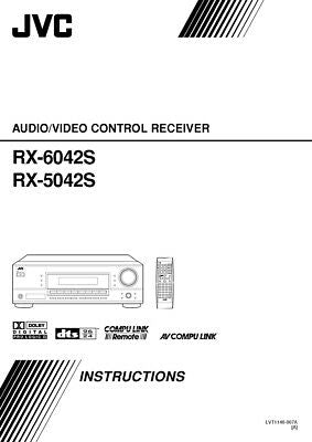 JVC RX-5042S RX-6042S Receiver Owners Instruction Manual Reprint