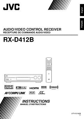 JVC RX-D412BC Receiver Owners Instruction Manual Reprint