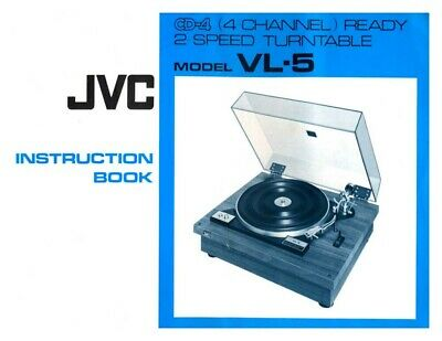 JVC VL-5 Turntable Owners Instruction Manual Reprint