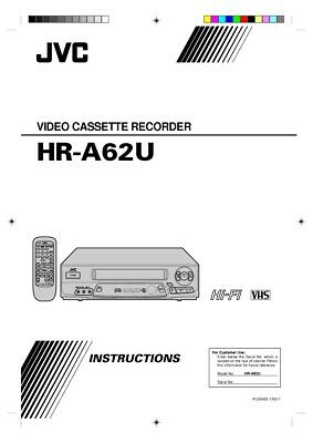 JVC HR-A62U VCR Owners Instruction Manual Reprint