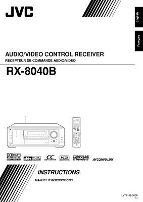 JVC RX-8040B Receiver Owners Instruction Manual Reprint