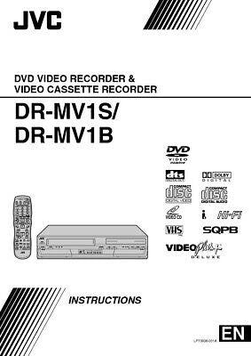 JVC DR-MV1S DVD Recorder Owners Instruction Manual Reprint