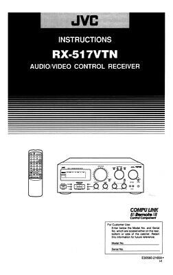 JVC RX-517VTN Receiver Owners Instruction Manual Reprint