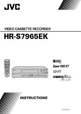 JVC HR-S7965EK VCR Owners Instruction Manual Reprint
