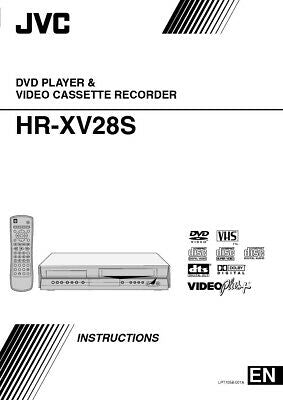 JVC HR-XV28S VCR Owners Instruction Manual Reprint