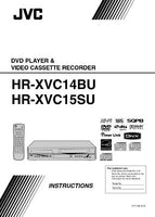 JVC HR-XVC14BU HR-XVC15SU VCR Owners Instruction Manual Reprint